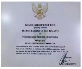 The Best Exporter of East Java 2011